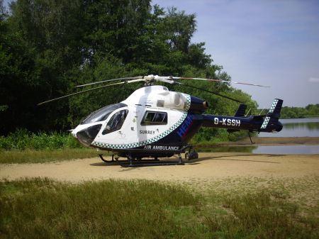 Air Ambulance at Sandy Bay
