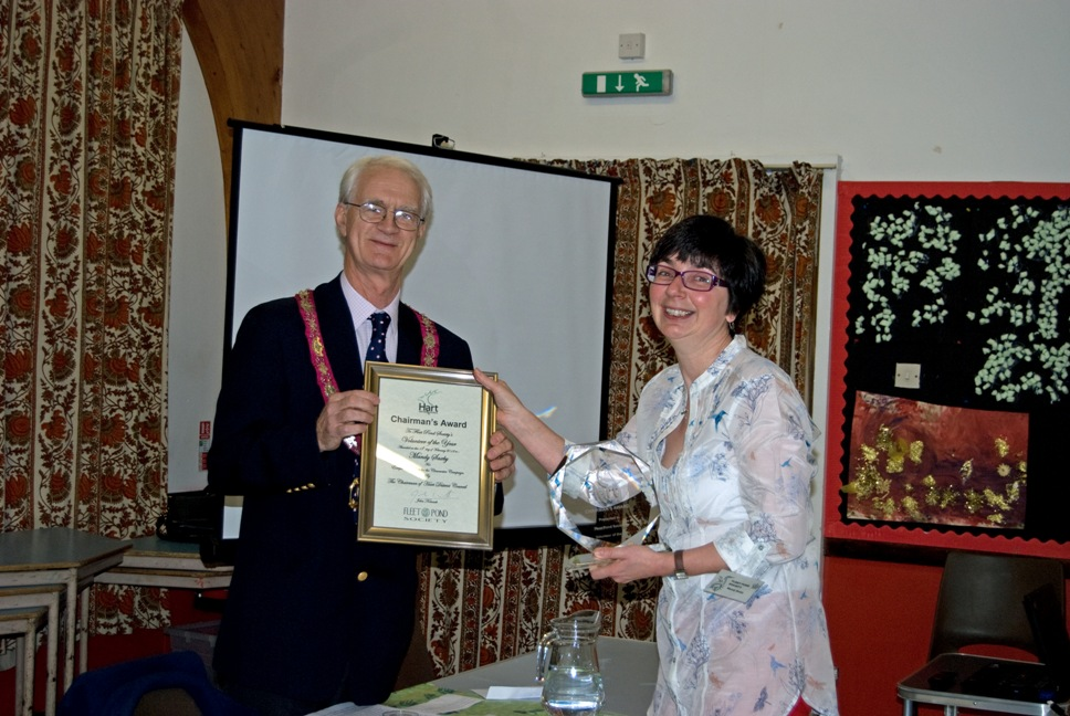 Councillor John Kennett names Mandy Saxby Volunteer of the Year