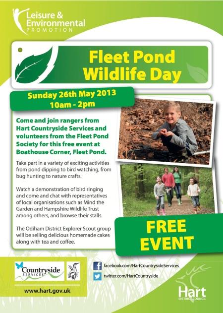 Fleet Pond Wildlife Day Poster May 2013