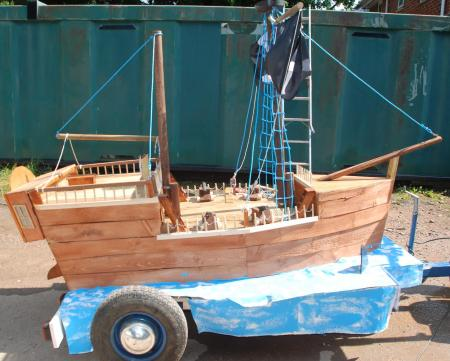 Wooden Pirate Galleon