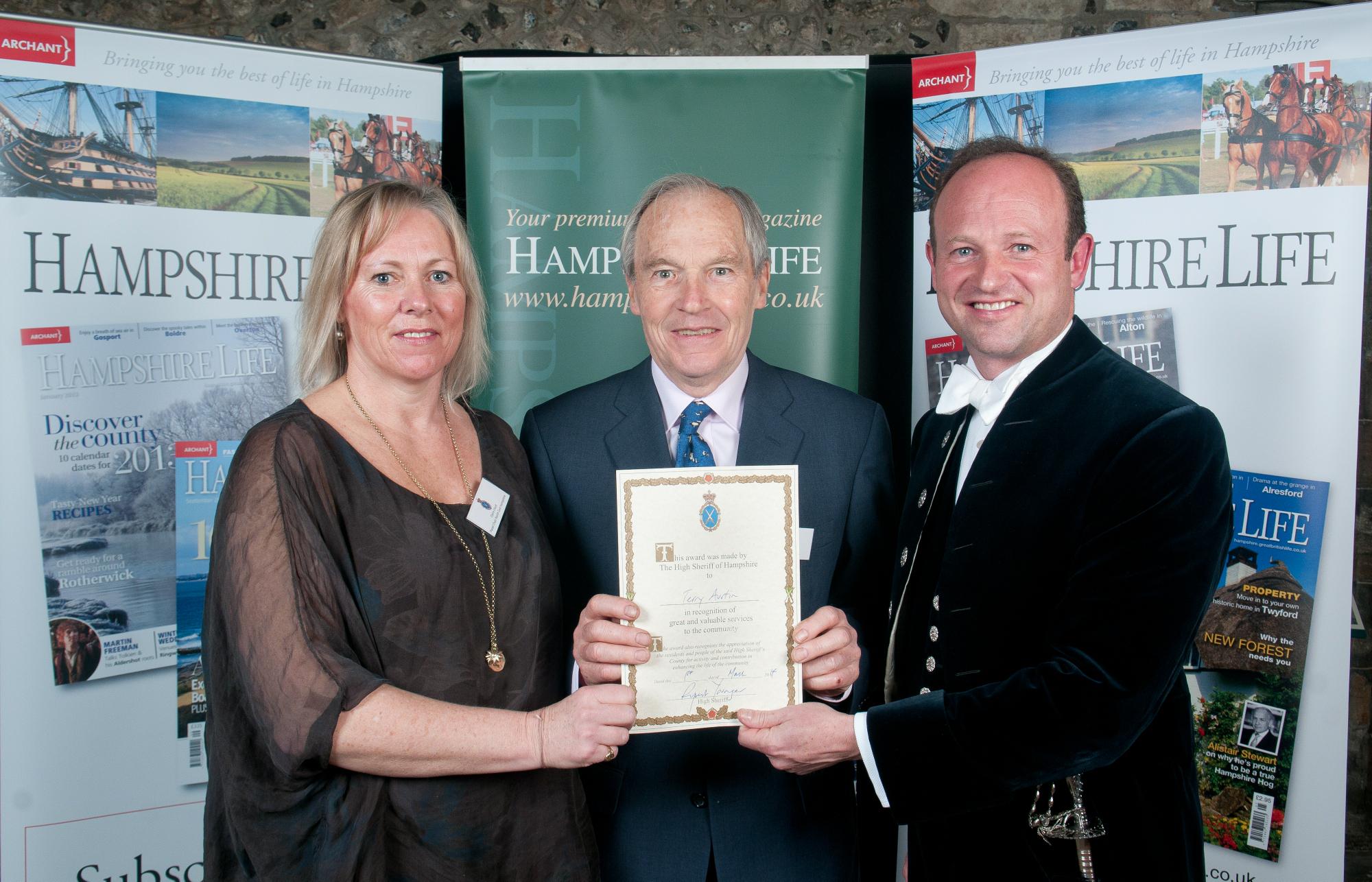 Terry Austin_High Sheriff Award 2014 sm