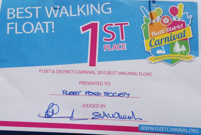 Carnival Certificate 2015