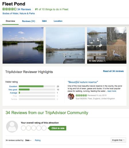 Fleet Pond TripAdvisor July 2015