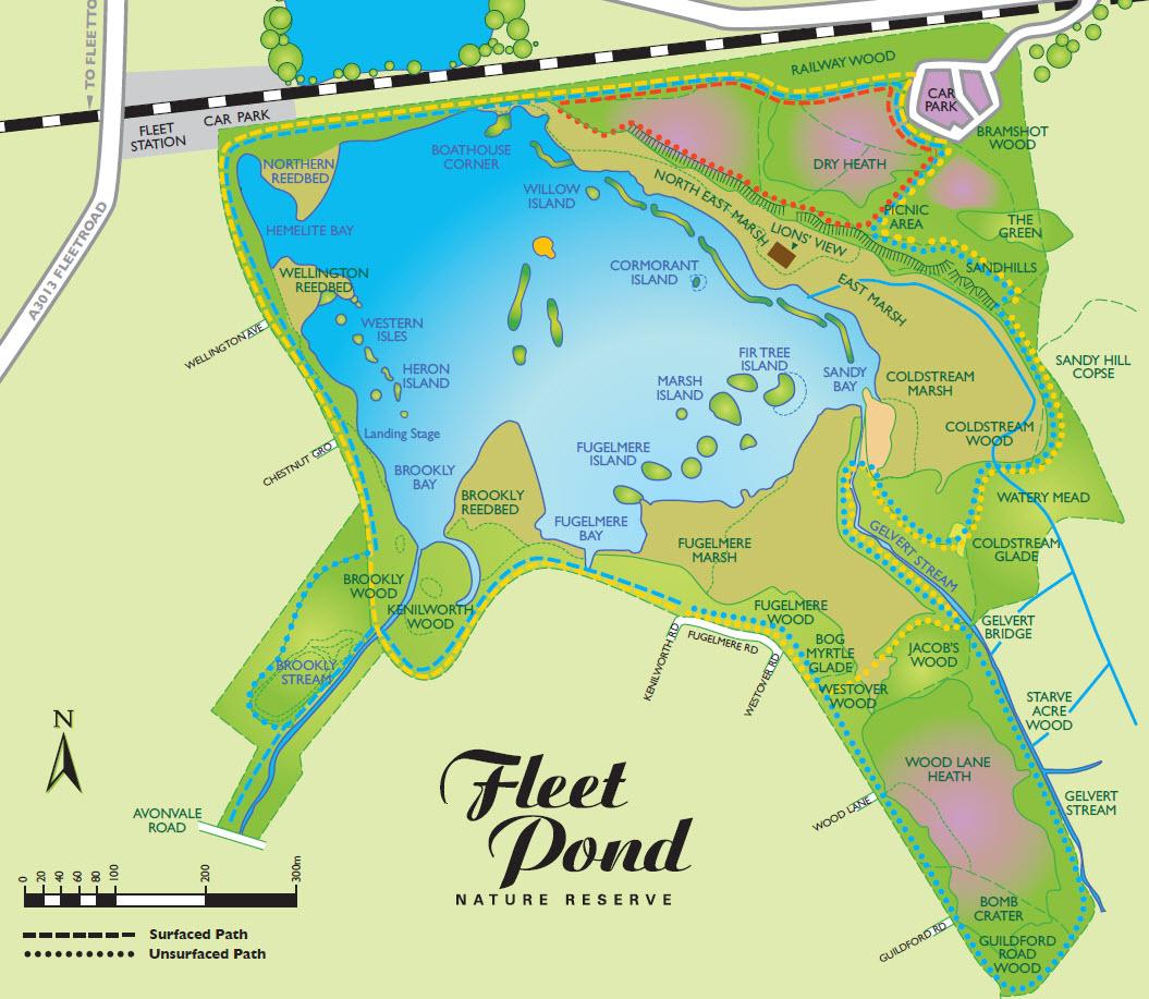 Fleet Pond Map 2014