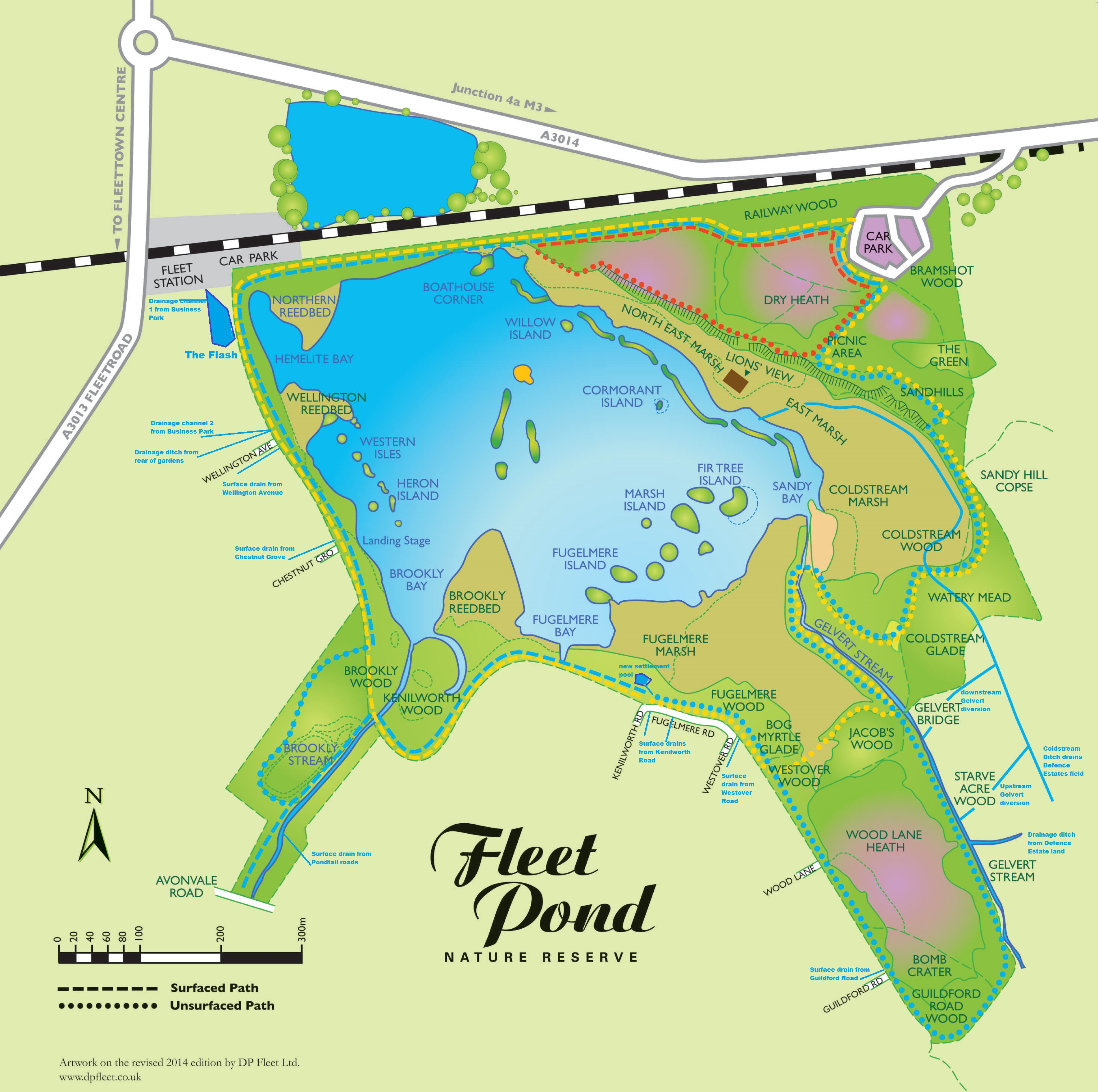 fleet-pond-drainage-routes